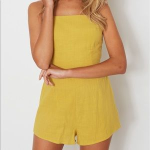 Australian Boutique Yellow Bow Romper *NEW*