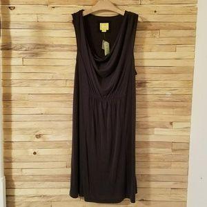 Anthropologie Maeve Black Mini Dress