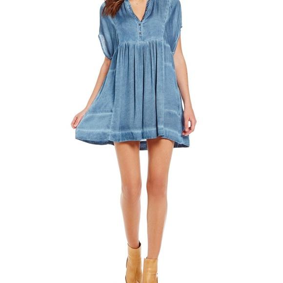 9566e6413e4 Free People Dresses   Skirts - Free People Rowan Mini Shift Tunic Dress