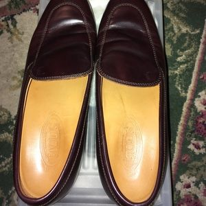 Tod's  Leather Loafers- Burgandy