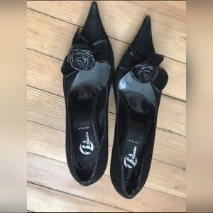 Brand new Bata Black Suede LEATHER pumps