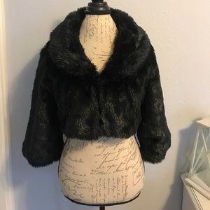 Luxurious Black Faux Fur Jacket