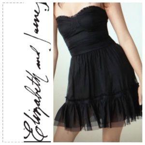 NWOT Elizabth & James Silk Bustier Dress. Sz 6