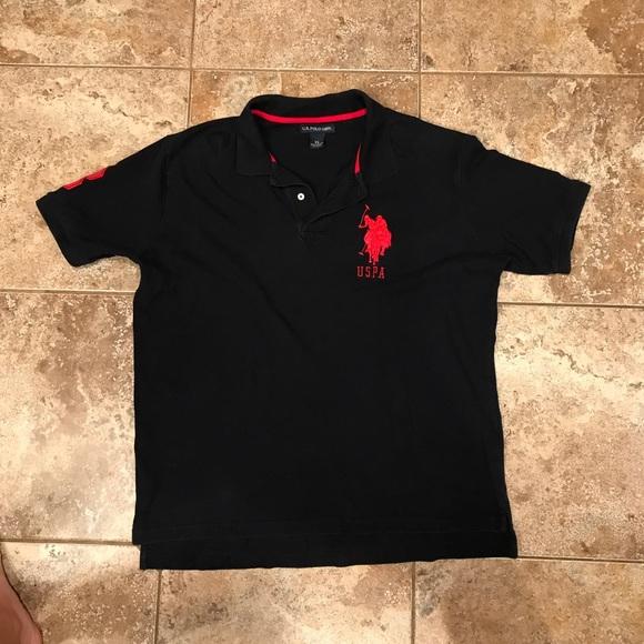 8d3933b94 U.S. Polo Assn. Shirts | Mens Polo Black Short Sleeved Polo Shirt Xl ...