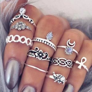 Jewelry - Cute bohemian style midi rings