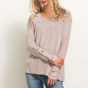 NEW JUST IN Lace Insert Top