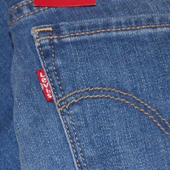 b3c86adc83a9c Womens Levis 712 Jeans Slim Mid Rise Size 24 Blue