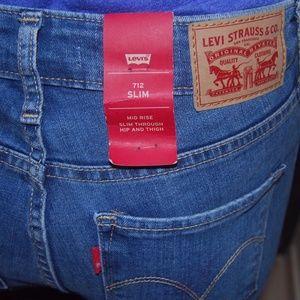 741e186b6e4c0 Levi s Jeans - Womens Levis 712 Jeans Slim Mid Rise Size 24 Blue