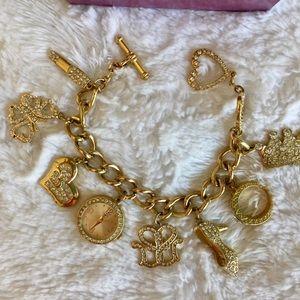 Suzanne Somers gold charm bracelet