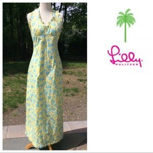 LILLY PULITZER Vintage maxi halter DRESS 4 Cuba
