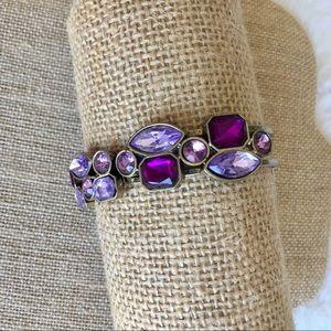 🎉Final Sale🎉 Purple crystal stone bangle