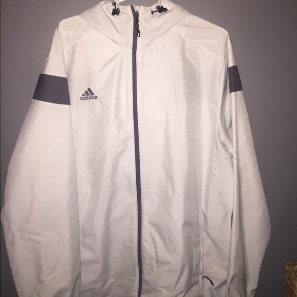 1c24a0424e70d adidas Jackets   Blazers - Brand New Adidas Rain Jacket! Grey and White!