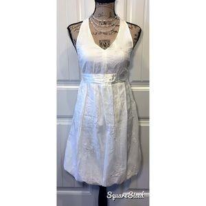 White Lace Halter Dress 💗☁️💗