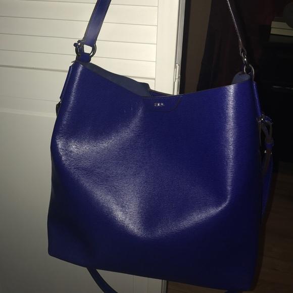 73e3bd53cab1 Ralp Lauren Royal Blue Color Handbag. M 597c09147f0a055635057d6a