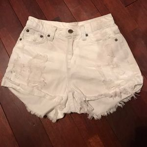 LF Carmar Distressed Shorts