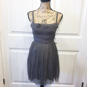 Ruffle Gray Dress 👗NWT