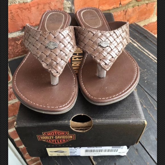 76b343121 Harley-Davidson Shoes - HARLEY DAVIDSON MACLAY BROWN WOVEN LEATHER 8 1 2