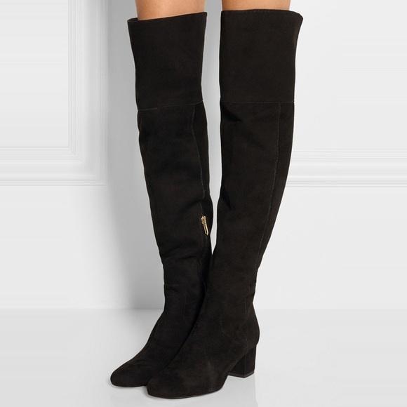 5332cca6392e0 Sam Edelman Elina Black Suede Over the knee boot