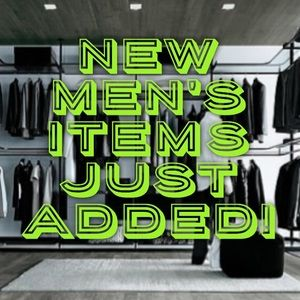 New Men's Items added!