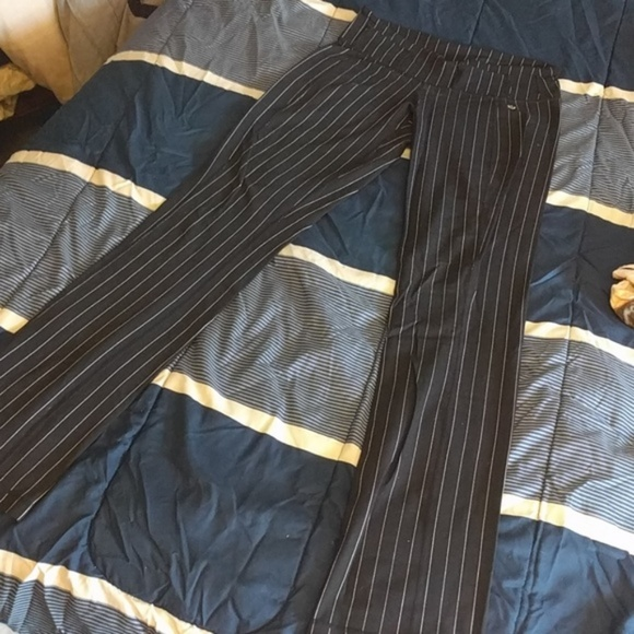 lululemon athletica Pants - Rare Lululemon Pinstripe Tall Groove Pants
