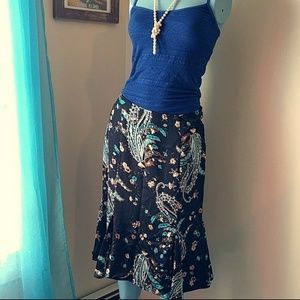 NWT INC Paisley Silk Skirt