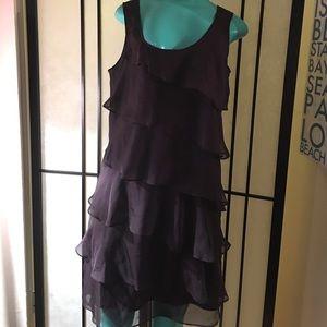 Flouncy  Plum dress