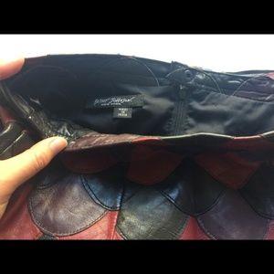 Betsey Johnson Skirts - Betsey Johnson Fish Scale Leather Skirt
