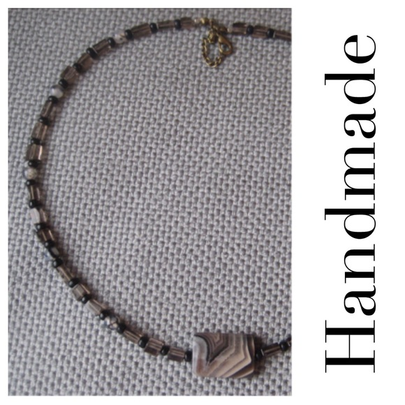 3b413d9fb046 Handmade Accessories | Mensunisex Smoky Quartz Agate Necklace | Poshmark