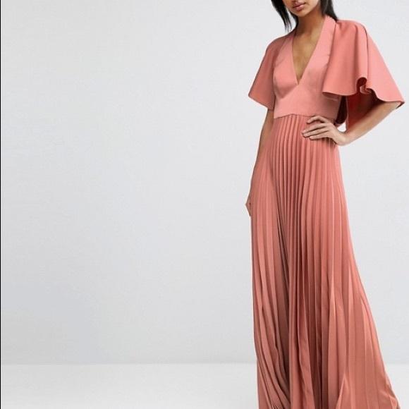 5674636e2d8 Asos Dresses   Skirts - ASOS Pleated Ruffle Cape Tiered Maxi Dress
