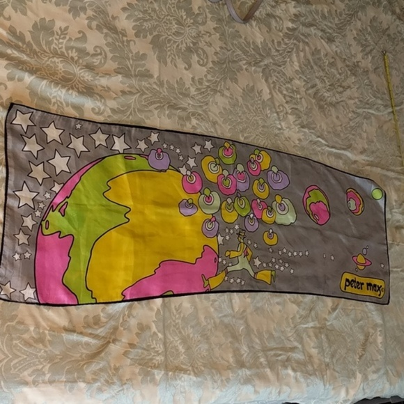 peter max Accessories - RARE Peter Max Psychedelic Scarf