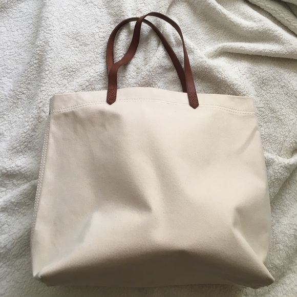NEW Madewell Canvas Transport Tote 8d46b7b1e83a0