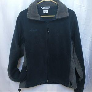 Blue and Grey men's fleece Columbia jacket