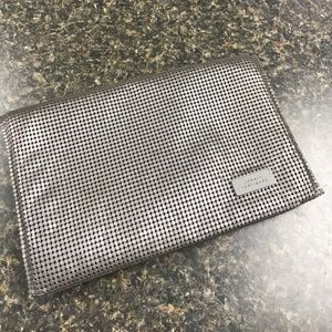 Robert Rodriguez gunmetal mesh fold over clutch