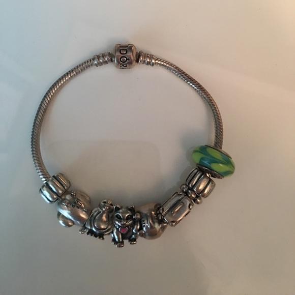 add1117387779 Pandora Bracelet and 9 charms