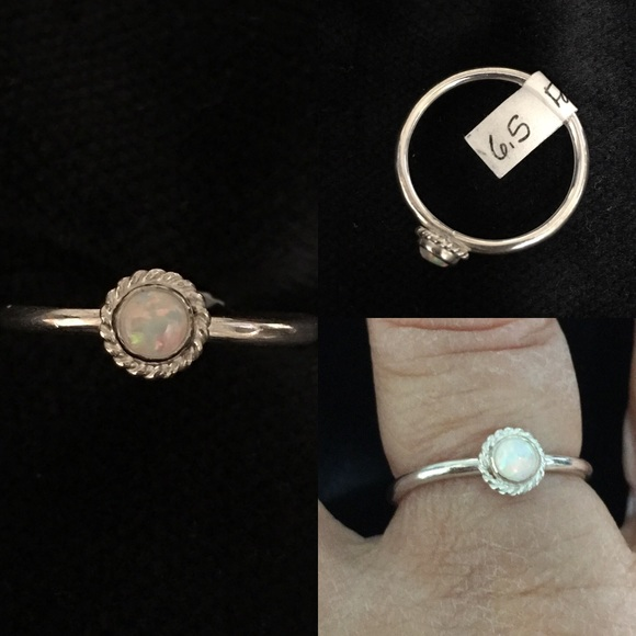 CBL Jewelry - 💕Lab-created opal/sterling silver ring, size 6.5