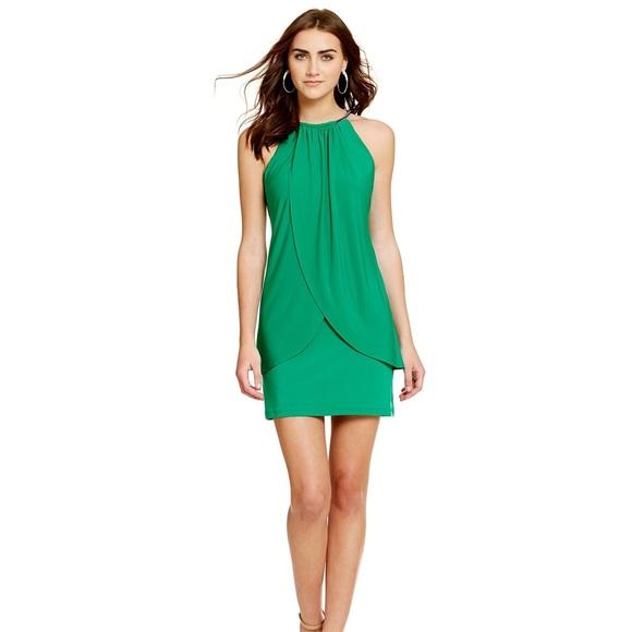 b18fdd9504 PROM Jessica Simpson Rhinestone-neck Halter Dress