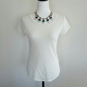 NEW J. Crew Ivory Netted Shirt