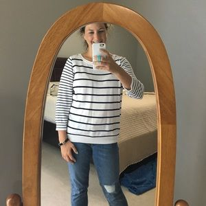 J. Crew Navy and White Striped Sweater