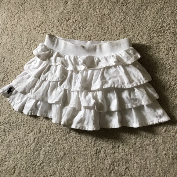 a62a24f8c Ralph Lauren Bottoms | Baby Girl 12m White Ruffle Skirt | Poshmark