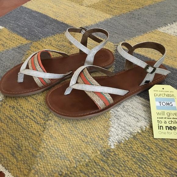 5bcdec5699da TOMS Lexie Sandals in Natural Multi NWT 😊😊