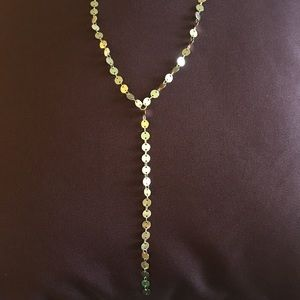 Jewelry - Gold disc Lariat Y Necklace
