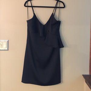 NWT black ruffle Size Medium dress spaghetti strap