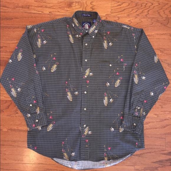 Vintage Gant Plaid Button Up Shirt Mens Size Large ZaPsi