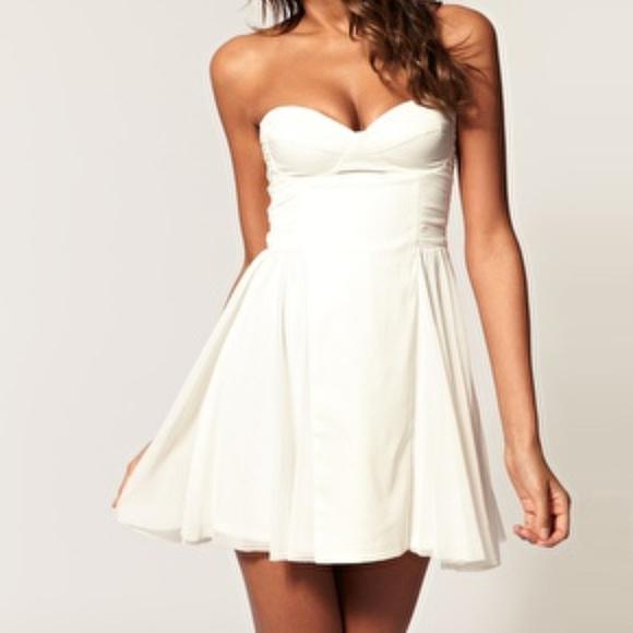 7fb078681aa7 Asos Dresses | Strapless Skater Dress With Sweetheart Neckli | Poshmark