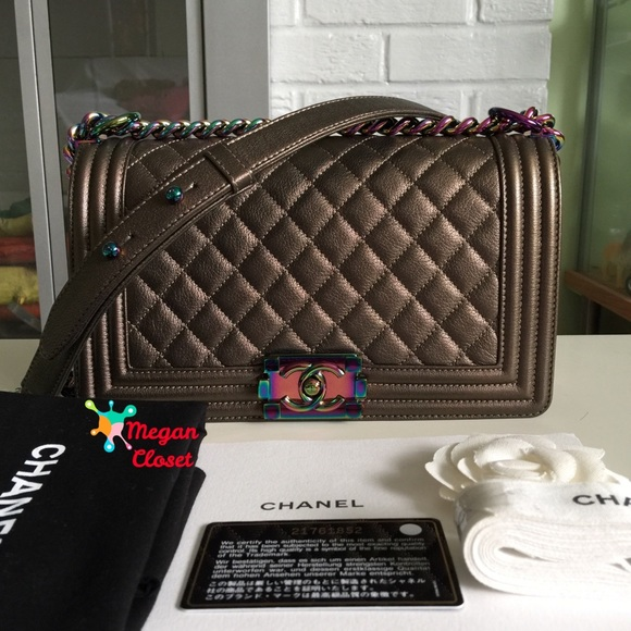 f685d5fdfd88 CHANEL Bags | Boy Bag Bronze Iridescent Rainbow Hardware | Poshmark