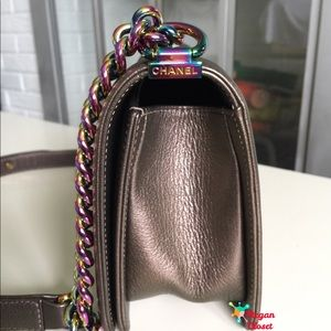 14bd98b27d61 CHANEL Bags | Boy Bag Bronze Iridescent Rainbow Hardware | Poshmark