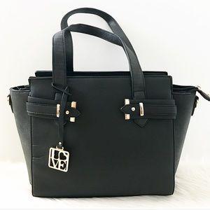 Handbags - Black love leather handbag