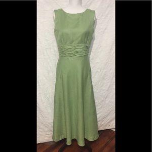 Jessica Howard Classic Linen Maxi Dress Size 8
