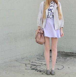 American Apparel Purple Denim Circle Mini Skirt