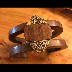 Jewelry - Handmade wooden cuff bracelet